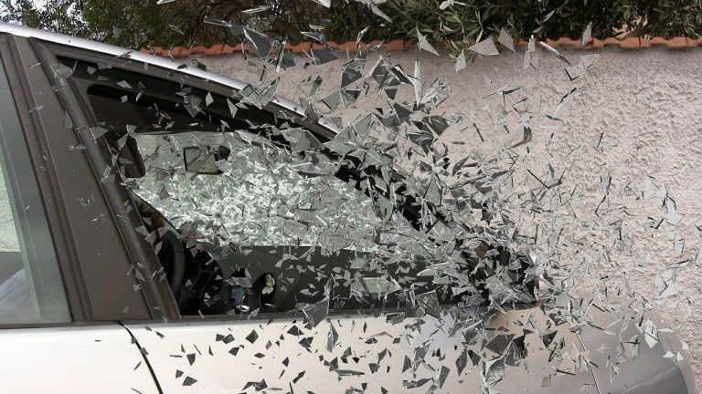 Auto Accident with Glass Shattering